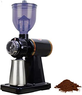 مطحنة قهوة كهربائية، مطحنة لحرق القهوة المنزلية من الفولاذ المقاوم للصدأ قابلة للتعديل مع 8 إعدادات دقيقة للطحن، ماكينة تح...