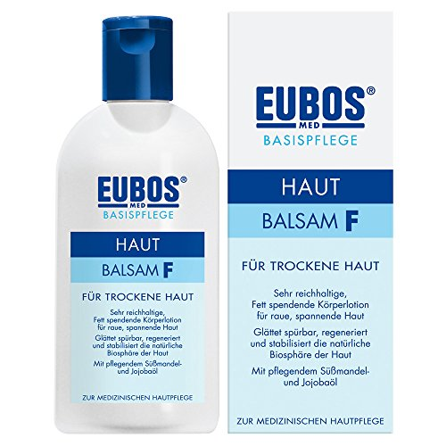 Eubos | Hautbalsam F | 200ml | reichhaltige Körperlotion | für trockene und sehr trockene Haut | Hautverträglichkeit dermatologisch bestätigt | Farbstoff-frei