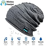 Upgraded Wireless Bluetooth Beanie Hat with Headphones V4.2, Unique Christmas Tech Gifts for Teen Boys/Girls/Boyfriend/Him/Husband/Men/Dad/Women/Stocking Stuffers/Built-in HD Stereo Speakers & Mic