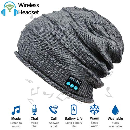 Upgraded Wireless Bluetooth Beanie Hat with Headphones V5.0, Unique Christmas Tech Gifts...