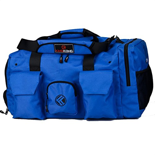 """King Kong Giant Kong Original Nylon Gym Bag - Large Heavy Duty and Water-Resistant Duffle Bag - Military Spec Nylon- Heavy Duty Steel Buckles - 22"""" x 13.5"""" x 13"""" - Blue"""