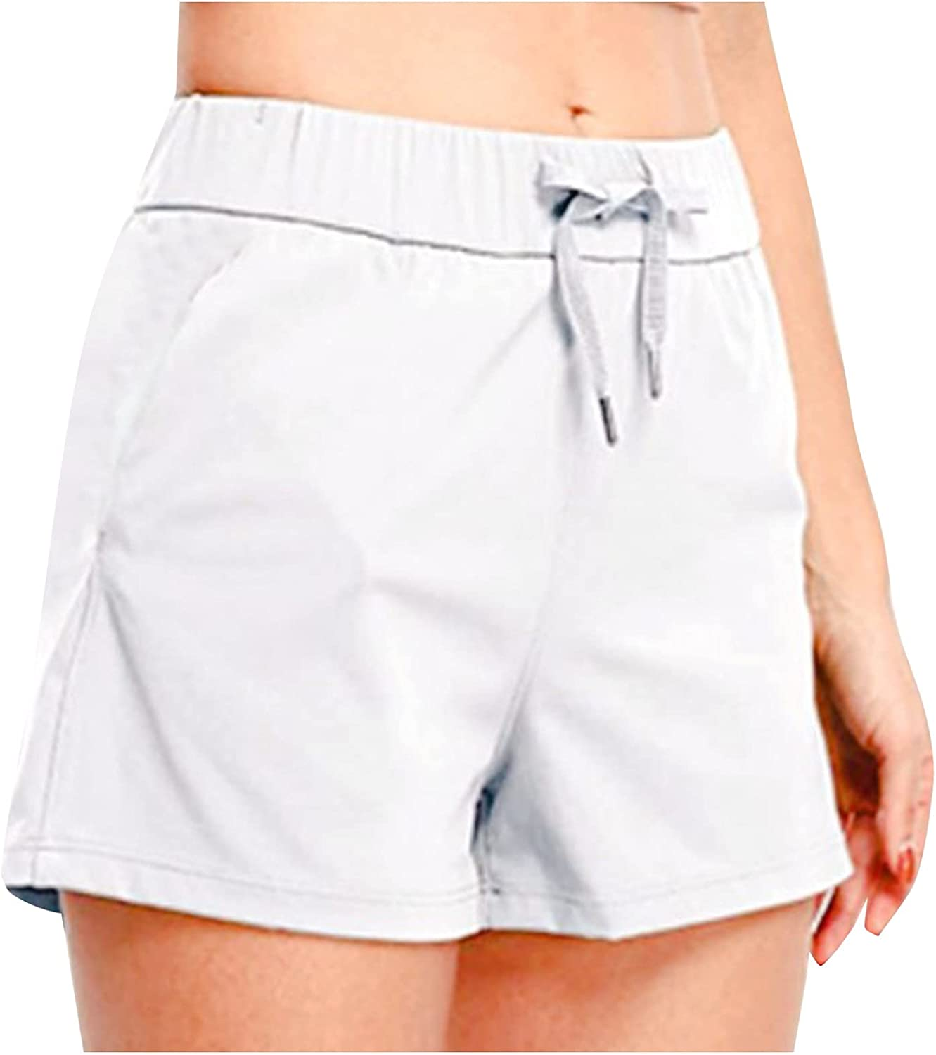 AZEWO Womens Shorts for Summer Women 5 popular Solid gift Elastic Co