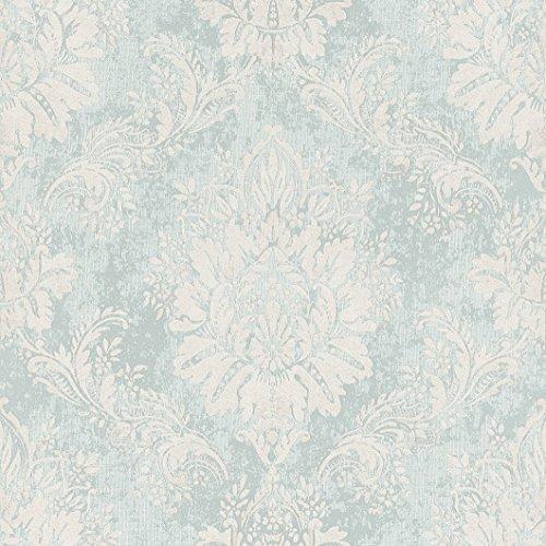 Rasch Papiertapete in mint weiß silber Ornament floral Muster 204810