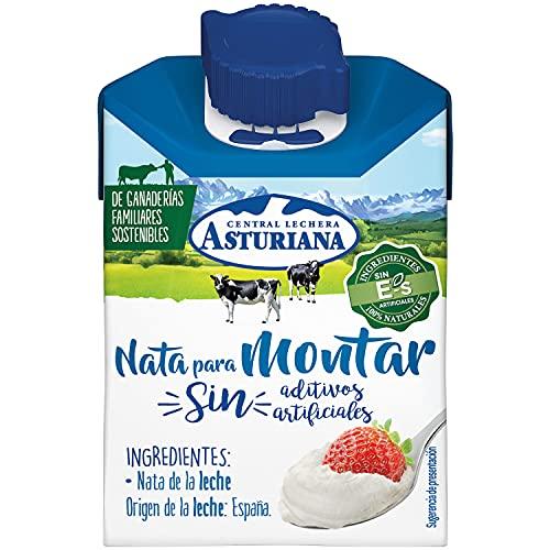 Central Lechera Asturiana Nata Para Montar, 38% de Materia Grasa, 200 Mililitros