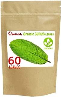Omura ORGANIC GUAVA LEAF, DRIED, (PACK 60 LEAVES)