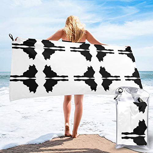 Gracie By Dvora Toallas de playa coloridas súper absorbentes, sin arena, ligeras toallas de piscina, manta de playa