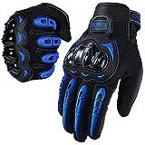 Motorcycle Gloves for Men and Women Full Finger Touchscreen Mountain Dirt Bike Gloves for Powersports BMX ATV MTB Driving Motocross Cycling Gloves(L, Blue)