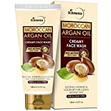 StBotanica Moroccan Argan Oil Creamy Face Wash - Soothes, Hydrates, Nourishes For Clear