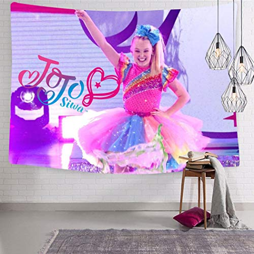 UUKELLY08 JoJo Siwa Wall Hanging Wall Tapestry Bohemian Mandala Hippie Tapestry for Bedroom Living Room Dorm 51.2 x 59.1 Inch