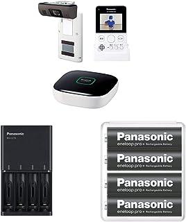 パナソニック モニター付きドアカメラキット VS-HC400K-W急速充電器 & エネループ 単3形充電池 4本パック セット
