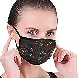 Pretty Floral Skull Pattern Design Half Face Mundmaske Gesichtsmasken Anti-Staub-Gesicht und Nasenschutz Cool Soft Windproof Ski Mout