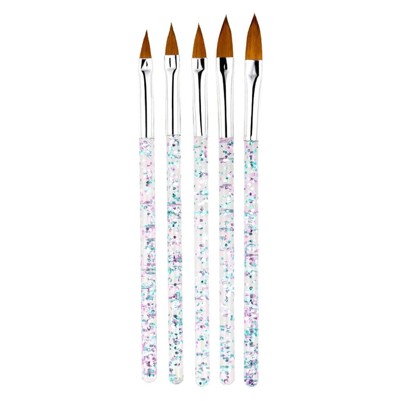 ミニチュア寝るダンプMCCRUA ネイルブラシ 5本セット スカルプネイルブラシ 可愛い アクリルネイル UV ジェルネイル ネイルアート筆