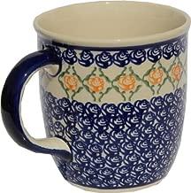 Polish Pottery Mug 12 Oz. From Zaklady Ceramiczne Boleslawiec 1105-869 Classic Pattern, Capacity: 12 Oz.