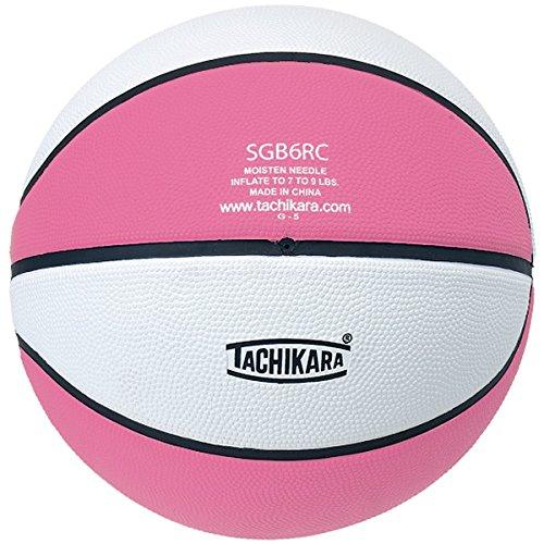 Tachikara Top Grade Rubber Basketball Size 6 Pink/White