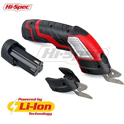 Hi-Spec 3.6V Electric Scissors with Release Safety Switch