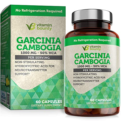 Garcinia Cambogia - by Vitamin Bounty - 100% Pure Extract - 60 Count - 1000mg
