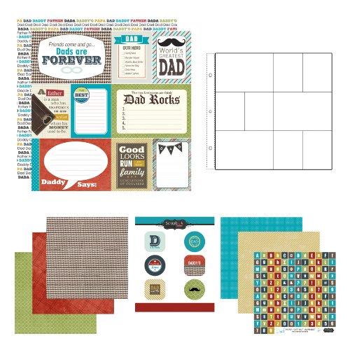 Scrapbook Customs Kit de scrapbook de papel e adesivos, pai