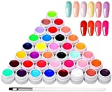 Anself 36 Colors Nail Gel