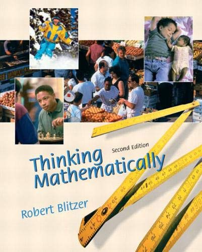 Thinking Mathematically (2nd Edition)