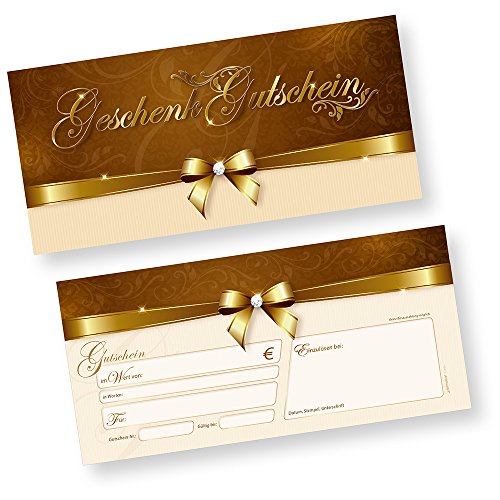 Geschenk-Gutscheine für Kunden (50 Stück) einfach Werte eintragen und stempeln, für Firmen aller Art