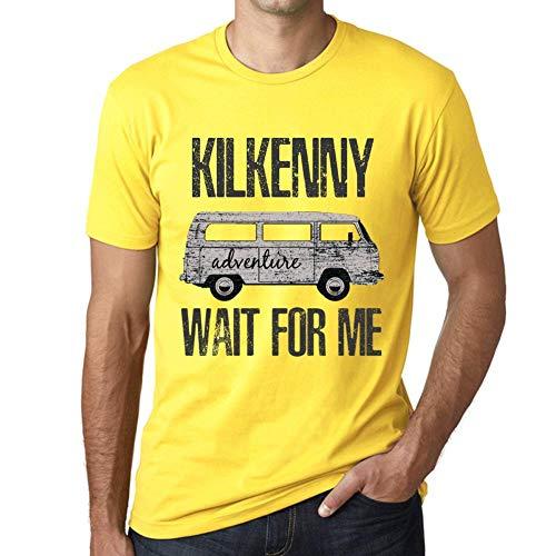 Herren Tee Männer Vintage T Shirt Kilkenny Wait for Me Gelb