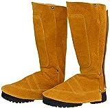 Vêtements de soudage Protecteur de chaussures en daim Protecteur de chaussures en cuir Résistant à la chaleur et à l'abrasion Guêtres de soudage Couvercle de chaussures Soudeur Pieds de travail Co