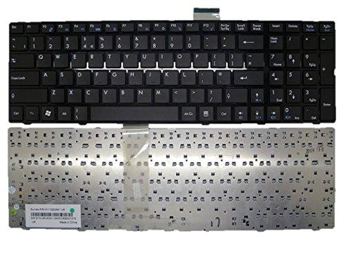 Laptop-Tastatur für MSI A6300 A6500 CR610 CR630 CX605 CX620MX schwarz mit schwarzem Rahmen United Kingdom UK/GB S1N-3EUK241-SA0 V111922AK1 UK MS-168B MS-1684 MS-1687 MS-1688 JK180307
