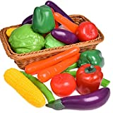 Liberty Imports Life Sized Bag of Vegetables Play Food Playset for Kids - Great with Fruits Set!