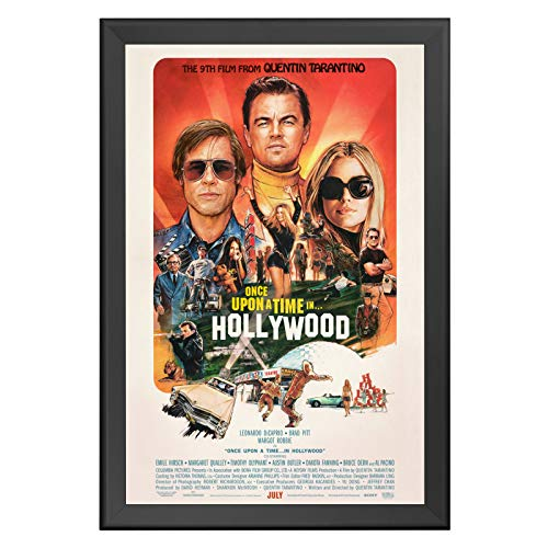 SnapeZo Poster Frame 27x40 Inches, Black 1.7 Inch Aluminum Profile, Front-Loading Snap Frame, Wall Mounting, Wide Series for One Sheet Movie Posters