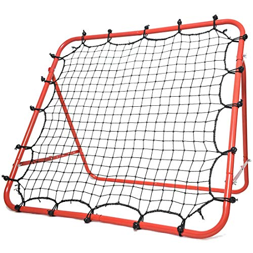Morimoe Soccer Rebounder Net,Adjustable,Easy Set Up,Steel Frame,40X40-inch