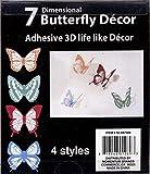 Momentum Brands 7 Adhesive Butterflies, 3D Life Like Decor