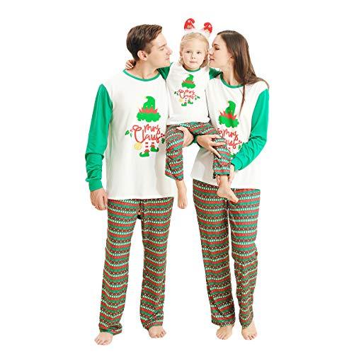 ROSEBEAR Ropa de Navidad a Juego con la Familia, Conjunto de Pijamas de Navidad para Mujeres, Hombres, niños, bebés, Pijamas de Navidad