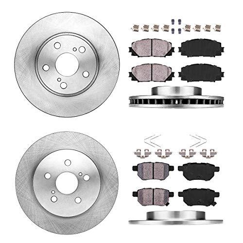 Callahan FRONT 255 mm + REAR 259 mm Premium OE 5 Lug [4] Brake Rotors + [8] Ceramic Pads + Hardware CRK01211