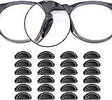 VOARGE 24 almohadillas adhesivas para los ojos, gafas, nariz, forma en D, antideslizantes, de...