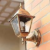 YBright Al aire libre linterna clásico clásico a prueba de intemperie montaje porche pórtico vintage e27 retro iluminación externa seguridad ligero aceite frotado acabado de bronce pared lámpara lámpa