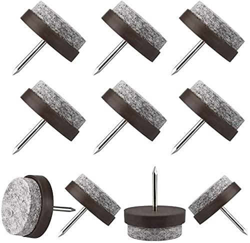 Tacos deslizadores de fieltro (60 unidades, diámetro de 20 mm, 22 mm, 24 mm)