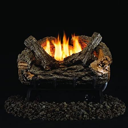Amazon Com Peterson Real Fyre 16 Inch Valley Oak Log Set With Vent Free Natural Gas Ansi Certified 9 500 Btu G8 R Burner Basic On Off Remote Home Kitchen