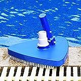 TBBA Cepillo de Cabeza de Aspiradora para Limpieza de Piscina, Portátil Cepillo Succión Limpiador, Limpiafondos Manual de Piscina para el Piso de la Piscina