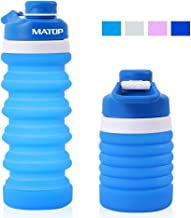 DACHMA Collapsible Water Bottle Sport Bottle - BPA Free Foldable Sports Bottle for Camping Hiking Travel Leak Proof Water Bottles Storage Silicone FDA Approved Portable Water Cup Bottle
