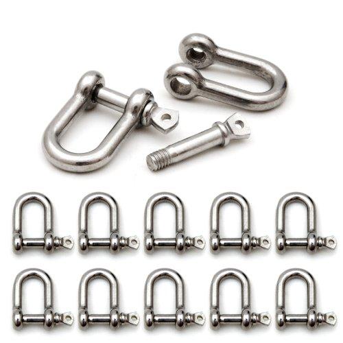 manille en métal 10 pièces, pour bracelet paracorde, très stable, obturateur