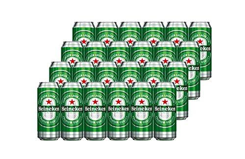 Heineken Cerveza - Caja de 24 Latas x 500 ml - Total: 12 L