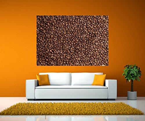 wandmotiv24 Wandbild Braune Kaffeebohne geröstet Selbstklebende Folie - M - 80x56cm (BxH) Foto-Geschenk, Acrylbild, Dekoration Wohnung WB0843