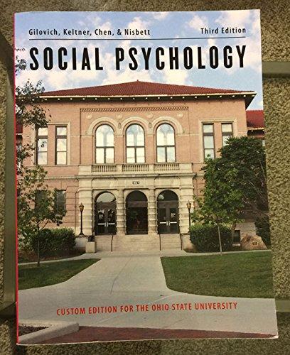 Social Psychology - Custom for Ohio State
