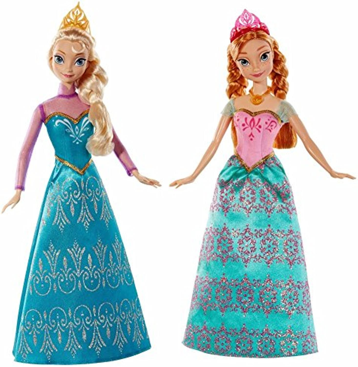 Desconocido Disney Frozen Royal Sisters Doll (2-Pack) Anna and ELSA, Princess, by Unknown