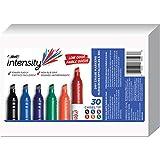 Item: BIC Great Erase Grip Chisel Dry Erase Marker, Chisel Tip, Assorted Ink, 30 Coun