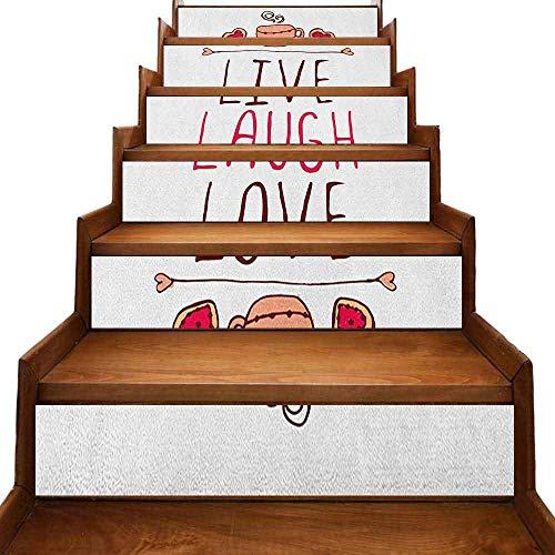 JiuYIBB Live Laugh Love Decoración de la habitación del hogar rústico casas de campo con composición de ladrillo calmante paisaje y una cita decoración para el hogar, multicolor