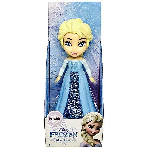 Jakks Pacific Disney Frozen ELSA Puppe mit klassischem Kleid, Mehrfarbig, 7,5 cm (46758)