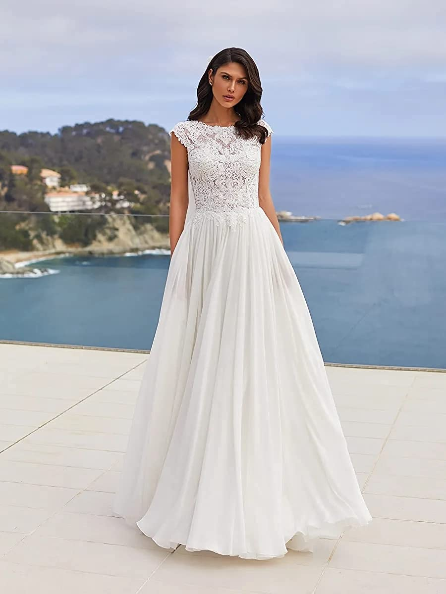 Buy SIQINZHENG A Line Beach Wedding Dresses Long Strapless Lace Up ...