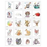 10枚動物の一時的な入れ墨ステッカー子供のための、防水フェイクタトゥの顔に手腕党好意ボディーアート,Cute pet 3
