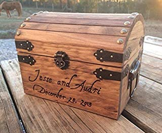 Engraved Wooden Card and Memory Chest - Rustic Wedding Card Chest - Personalized Gift - Rustic Wedding Decor - Wedding Card Holder - Personalized Card Box